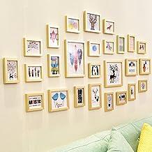 El oro de y plateadas Foto pared joyas pared creativos Salón Dormitorio Marco pared pared Combinación de fotos.26Buzón Completo