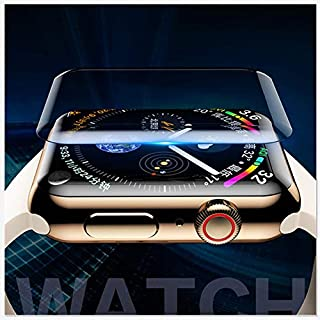 BOOMING Displayschutzfolie für Apple Watch 40/44mm, UV-gehärtetes Glas Displayschutzfolie [Anti-Bubble] [Full Coverage] Kratzfester Nano-Wasserglasfilm für Apple Watch Series 4 40/44mm (4 44mm)