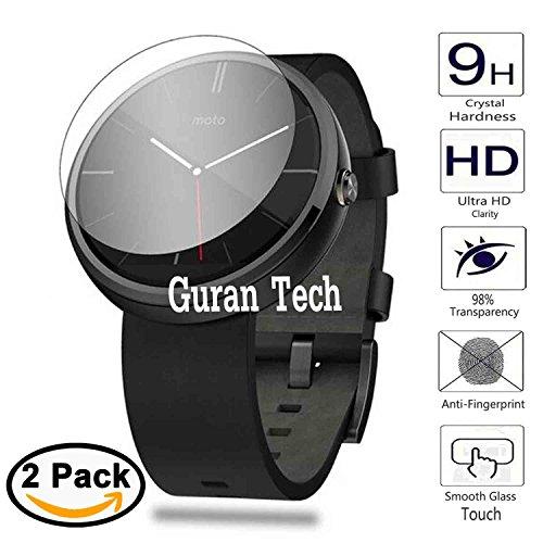 [2 Pack] Temperato Pellicola Protettiva Per Motorola Moto 360 46mm (1a / 2a Generazione) Smartwatch Ultra Sottile Screen Protector Film