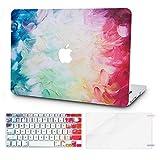 KECC MacBook Case w/UK Keyboard Cover Plastic Hard Shell + Screen Protector