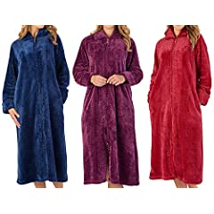Zip Up Dressing Gown Womens Plus Size Clothing