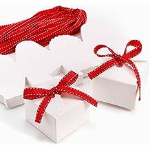 CLE DE TOUS - Set de 50 Cajas para dulces bombones Cajitas de boda regalo Caja