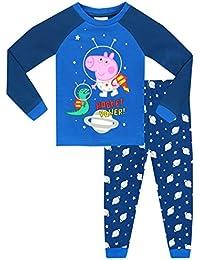 George Pig Boys George Pig Glow in The Dark Pyjamas - Snuggle Fit - Ages 18 Months to 8 Years