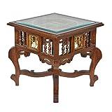 ExclusiveLane Teak Wood Side Table With ...