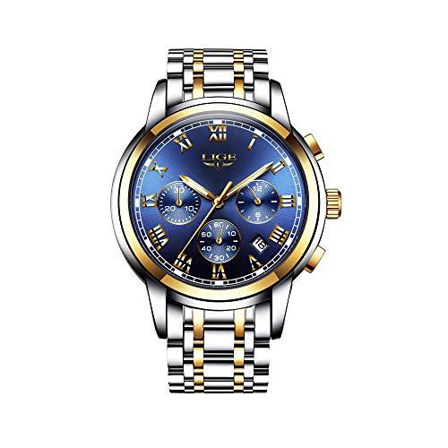Armbanduhr Jungen Luxus Marke LIGE Wasserdicht Sport Analog Quarzuhr Herren Edelstahl Mesh Geschäft Mode Armbanduhr männer Schwarz Uhr