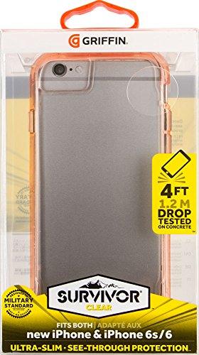 Griffin Survivor Clear Case Schutzhülle für Apple iPhone 7/6s/6 - Gold/Transparent Gold/Transparent