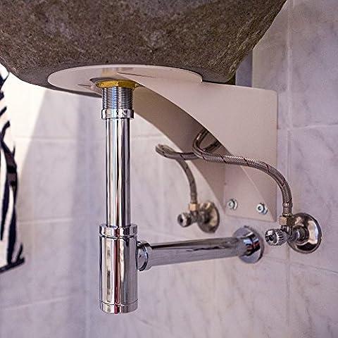 Wohnfreuden Wandhalterung für Waschbecken ohne Befestigungsmöglichkeit