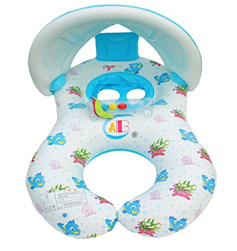 V-SOL Flotador para Bebé Padres Anillo Natación Sombrilla Inflable...