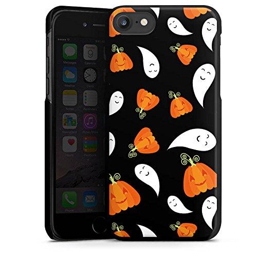 Apple iPhone 4 Silikon Hülle Case Schutzhülle Kürbis und Gespenster Halloween Muster Hard Case schwarz