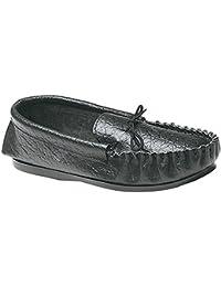 Mokkers - Zapatillas de estar por casa de piel suave Modelo Gordon Estilo Mocassin hombre caballero