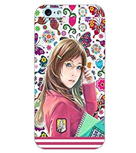 PrintDhaba STUDY GIRL D-6388 Back Case Cover for APPLE IPHONE 6 (Multi-Coloured)