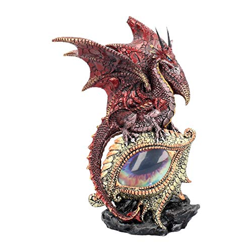 Nemesis U2052F6 - Figura decorativa, diseño de ojo de dragón, color rojo (21cm)