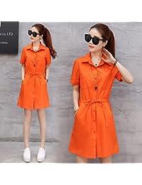 E Gialla Arancione Lunga Camicia Gonna Om0wNv8n