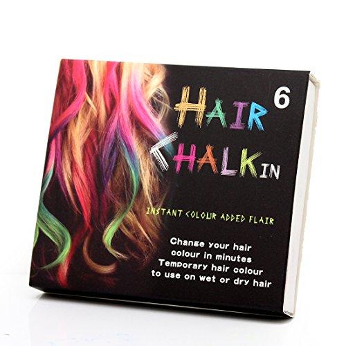 6 Farben Haar-Kreide-Farben-Färbungs-Pastelle Salon Kit Tools ungiftig