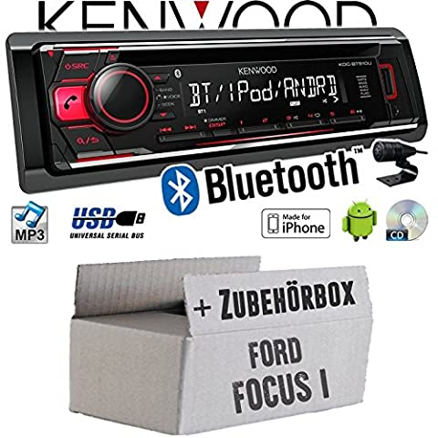 Ford Focus 1 - Kenwood KDC-BT510U - Bluetooth CD/MP3/USB Autoradio - Einbauset