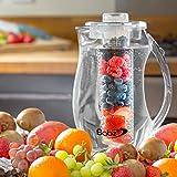 Babz - Brocca per l'acqua con infusore per la frutta, 2,7 L, per creare saporiti infusi di frutta