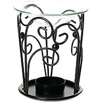 Spiral Design Metal Oil Burner with Glass