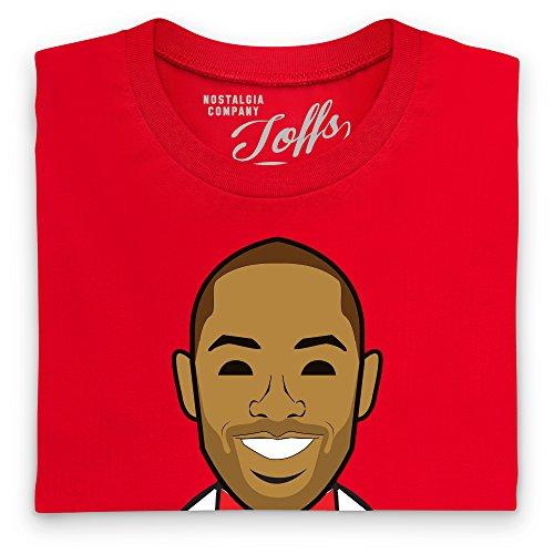 Official TOFFS - Highbury Legend 2T-Shirt, Herren Rot