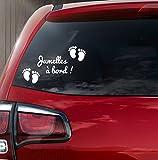 Sticker bébé à bord petits pieds bébé jumelles à bord! (sticker Blanc)