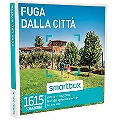 Idea Regalo - smartbox - Cofanetto Regalo - Fuga dalla Citta' - 1245 soggiorni in Italia o in Europa: B&B, agriturismi, masserie, Hotel 3*