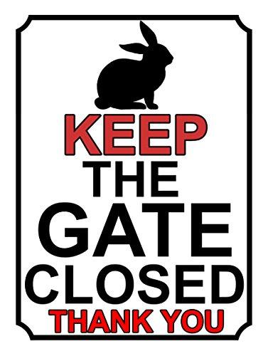 SHAWPRINT), 234h1s, halten Sie das Tor geschlossen Thank You, Metall-Schild, 200mm x 115mm (Halten Sie Tor Geschlossen)