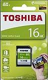 Toshiba 16GB EXCERIA N202 SDHC UHS-I Card U1 Class 10 SD Card Memory Card 80MB/s (THN-N202N0160A4)