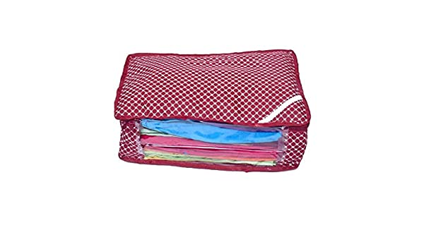 fca03d5b004 SAMRIDHI HANDLOOM HOUSE(Since-1996) Quilted Petticoat Packing Cover Bag  Wardrobe Organizer- Maroon In Polka Dots. Size  15x10x5 INCH (LXBXH)   Amazon.in  ...