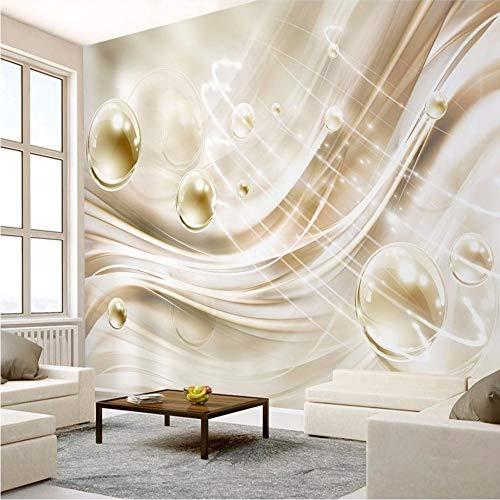 Xzfddn Benutzerdefinierte Wandbild Tapete 3D Stereo Golden Silk Flash Kristallkugel Fresko Wohnzimmer Tv Sofa Hintergrund Tapeten 3 D Wohnkultur-280X200Cm (Die Flash-wandtattoo)