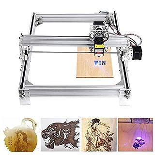 4YANG 5500 MW DIY CNC Laser Engraver KitsDesktop USB Laser Schnitzen Gravur Schneidemaschine für Leder Holz Kunststoff, 395x285mm, 2 Achsen