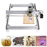 4YANG 5500MW FAI DA TE CNC Engraver KitsDesktop USB Laser intaglio macchina di taglio per incisione per pelle legno plastica, 395x285mm, 2 assi