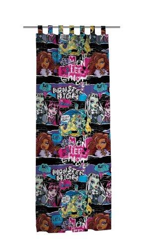 *Exclusiv* Monster High Gardine Draculaura Vorhang 150cm breit x 245cm lang (Öko Tex Standard 100) Thriller