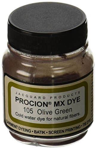Jacquard Produkte olivee grün Procion Farbstoff, Acryl, Mehrfarbig - Säure-farbstoffe