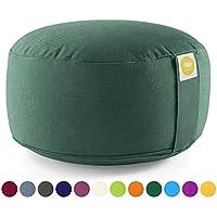 Lotuscrafts - Cojín de Meditación /Yoga LOTUS ECO - Al: 15 cm - algodón orgánico - certificado por GOTS