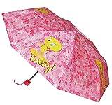 alles-meine.de GmbH Taschenschirm - Tweety Vogel ø 93 cm - Kinderschirm / Regenschirm für Kinder und Damen - Sturmfest - zusammenklappbarer Kinderregenschirm Mädchen Schirm Vögel..