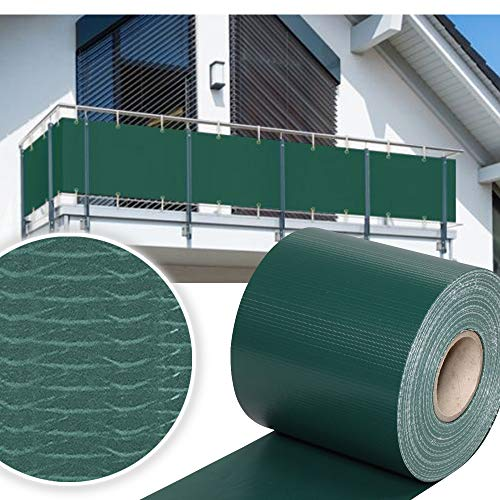 HG® 65mx19cm Sichtschutzfolie Gartenzaun Zaunfolie PVC Rolle Windschutz für Einzel- und Doppelstabmatten geeignet