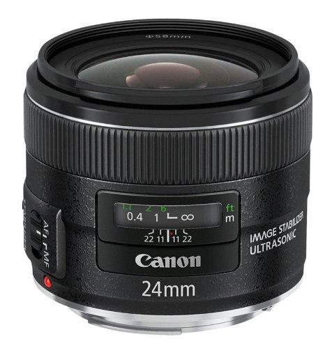 Canon Obiettivo Grandangolare EF 24 mm f 2.8 IS USM, Versione Standard, Nero
