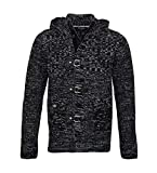 Pablo Malone by Poolman Strickjacke Jacke Black Grey Melange JH1604 327 9468 HW16PD Größe XL