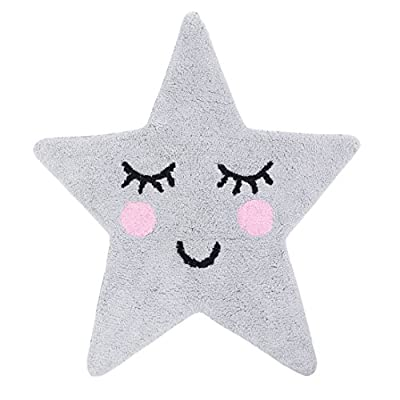 Sass & Belle Sweet Dreams Star Rug - Grey - cheap UK light store.