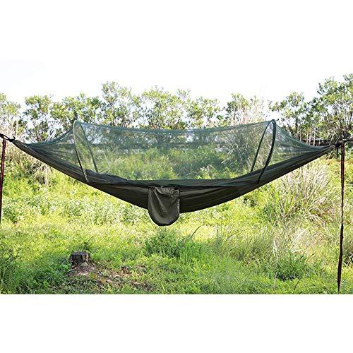 Queta Hamaca para Acampar con Hamaca de Viaje con mosquitero Hamaca Ligera de Nylon con Accesorio Hamaca al Aire Libre Protección contra Insectos para Acampar, Viajar, Vacaciones