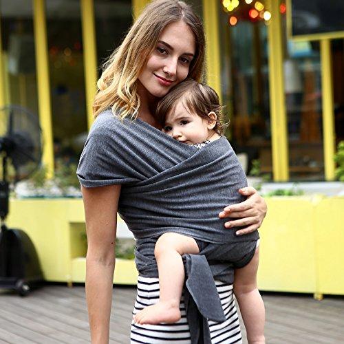 4-in-1 Boyd & Boyd Best Baby Shower Gift - Baby Wrap Carrier - Baby Carrier - Baby Sling Carrier - Nursing Cover -Postpartum Belt!!!!! sale ends today midnight!!!!! (Aschgrau)