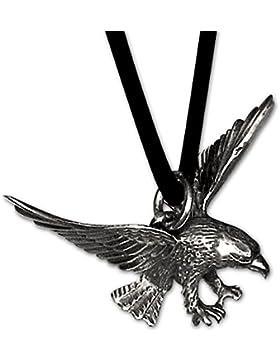 Anhänger Adler 925er Silber Schmuck Adleranhänger mit Lederband Schmucksäckchen und Karte 598