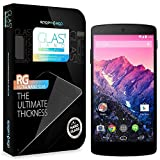 Spigen Google Nexus 5 Screen Protector Glass Slim [Crystal] [GLAS.t NANO SLIM] (0.15mm) Thin Lightweight 9H Hardness Tempered Glass Screen Protector Clear for Nexus 5 - GLAS.t NANO SLIM (SGP10666)