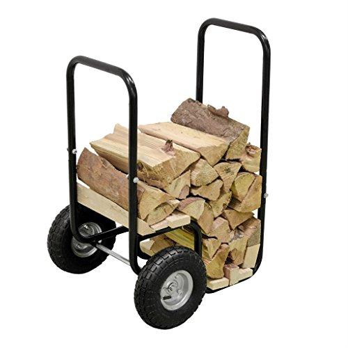 Georges Feu à roulettes en bois Bois de chauffage à bois pour cheminée cheminée panier en bois