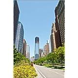 Impresión en metacrilato 80 x 120 cm: New skyline of Lower Manhattan with Freedom Tower de Getty Images