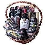 Iberico Tapasset / Geschenkkorb - Präsentkorb Pata Negra Reserva - Chorizo Bellota – Rotwein Rioja