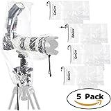Movo (5er Pack) RC2 Regenschutz für DSLR Kamera, Blitz & Objektiv bis 46 cm Länge