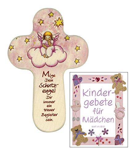 Wort im Bild 888 030 Schutzengelkreuz 16x10 cm für Mädchen mit Engel -