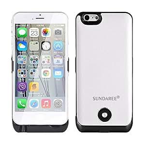 SUNDAREE® 3800mAh Power Bank Pour iPhone 6 4.7 Pouce Portable Externe Batterie Chargeur Rechargeable Coque Etui Housse Alimentation Pour iPhone 6 4.7 Pouce BLANC