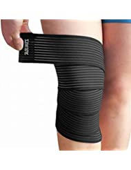 Dehang - Vendaje elástico Rodillera Tobillera Codera Protector Protección deportiva de rodilla tobillo codo - Negro