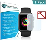 Slabo Premium Panzerglasfolie Apple Watch Series 3 (38mm) Echtglas Displayschutzfolie Schutzfolie Folie (verkleinerte Folien, aufgrund der Wölbung des Displays) Tempered Glass KLAR - 9H Hartglas